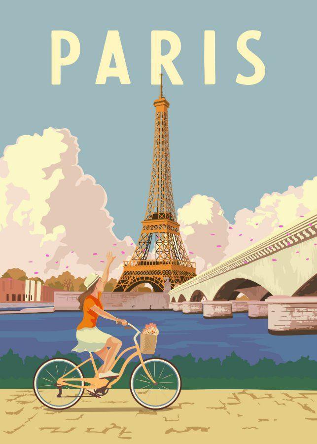 Paris Vintage Travel Poster Zazzle Com In 2021 Retro Poster Paris Poster Retro Travel Poster