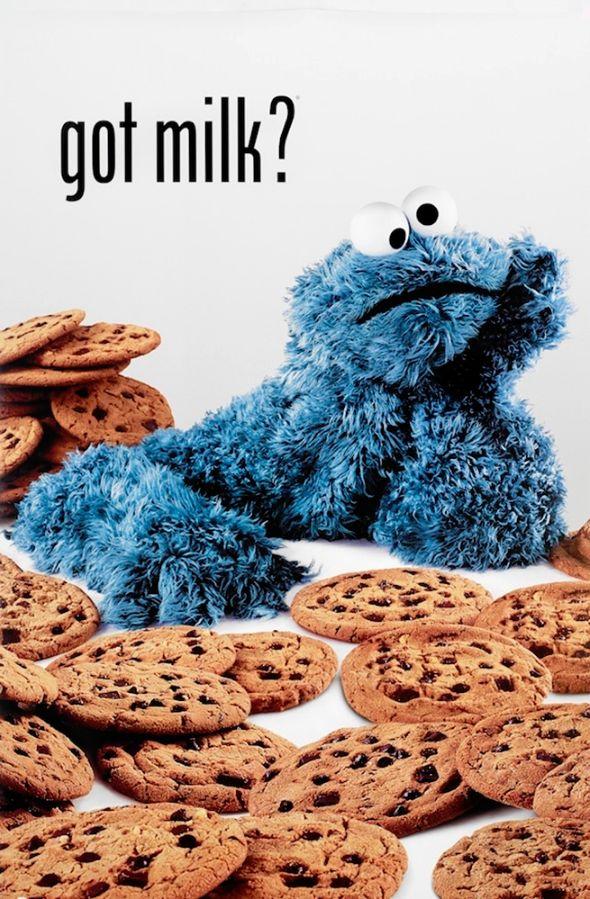 Cookie Monster Got Milk Poster