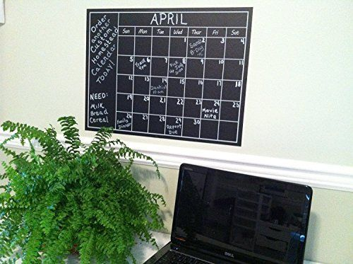 Large Wall Calendar - Chalkboard Planner Decal