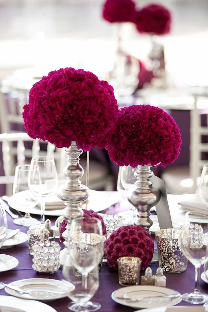 Burgundy wedding accents setting the table pinterest