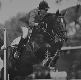 Vicki and Apache winning the Nations Cup