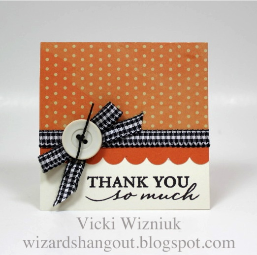 CTMH: Clean Design, Polka Dots, Cards Ideas, Bows Tutorials, Quick, Buttons, Thanks You Cards, Cards Tutorials, Wizards Hangout