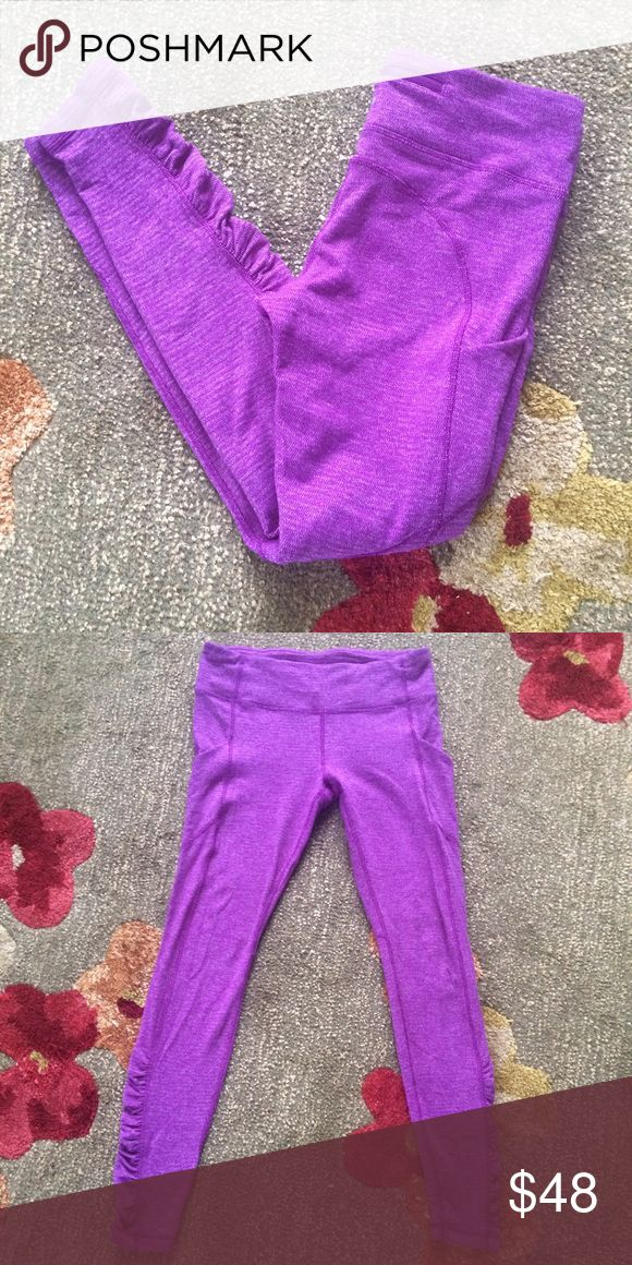 "Lululemon Speed Tight Size 10 Lululemon Speed Tight -Sz 10- Heathered Tender Violet - Mini Check Pique Rulu Pant. So soft and comfortable. Pockets on the sides are the best. Has tag. No pilling - these are in perfect condition. Inseam 29.5"" lululemon athletica Pants Skinny"