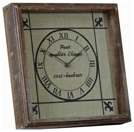 burlap backed clock use clock kit and make your own
