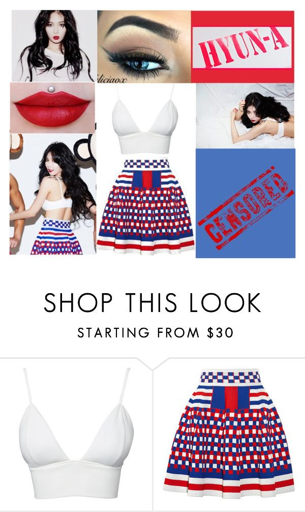 """HyunA Red"" by lovelyseoul784 ❤ liked on Polyvore featuring Club L and Alexander McQueen"