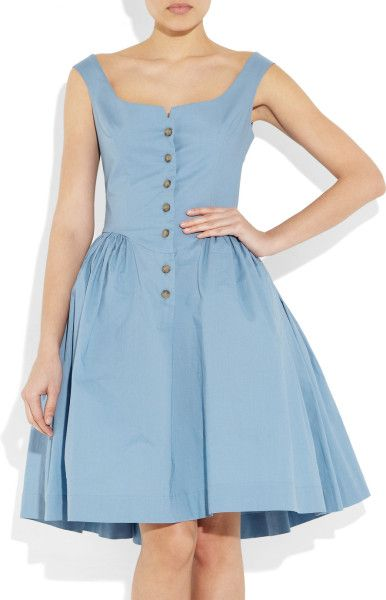 Vivienne Westwood Anglomania Pannier Cotton Dress in Blue (sky) | Lyst