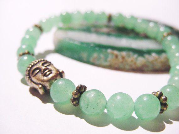 Buddha Green Aventurine Bracelet Healing Bracelet ~ by CherylsHealingGems, $26.00