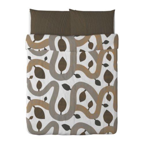kajsa trd duvet cover and pillowcases brown 40 - Duvet Covers Ikea