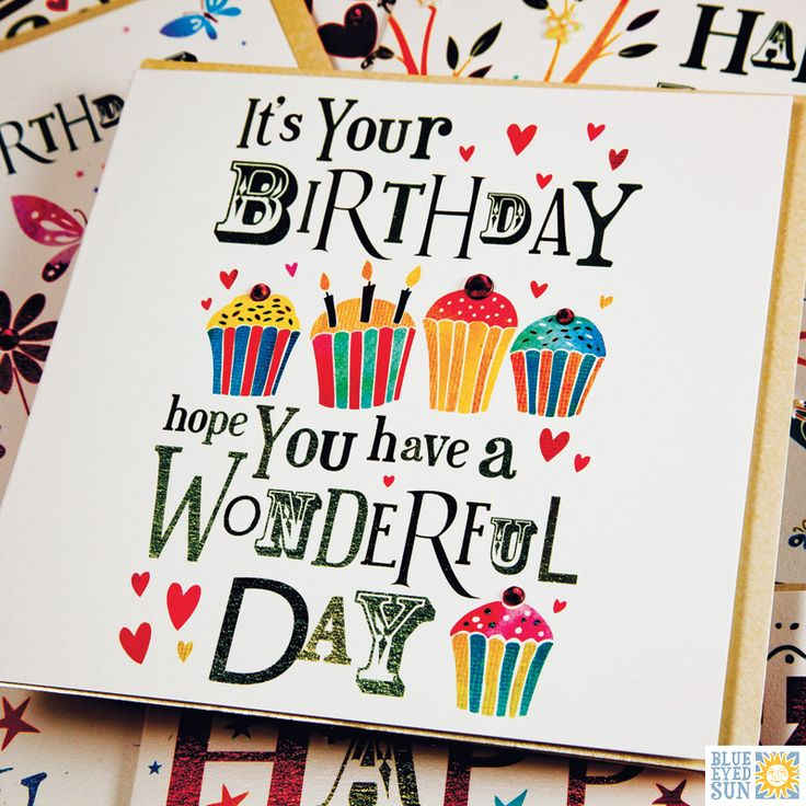 A Birthday card from the Jingles range by Blue Eyed Sun