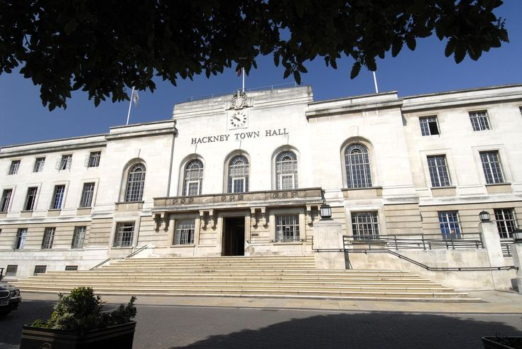 External view of Hackney Town Hall