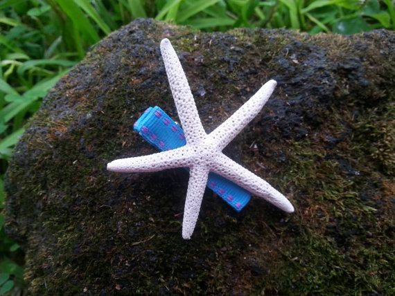 Check out this item in my Etsy shop https://www.etsy.com/listing/269197011/starfish-hair-clip-star-fish-hair-clip