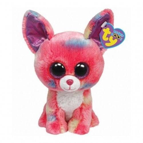 """Ty Beanie Boo's Baby Puppy Dog Chihuahua """"Cancun"""" Pink Stuffed Animal Toy #Ty"""