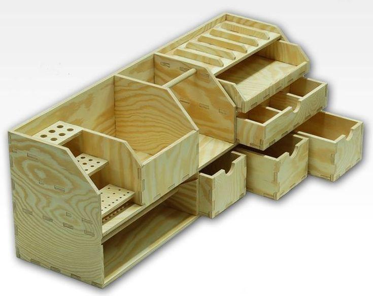 Hobbyzone workshop benchtop organizer cm wood