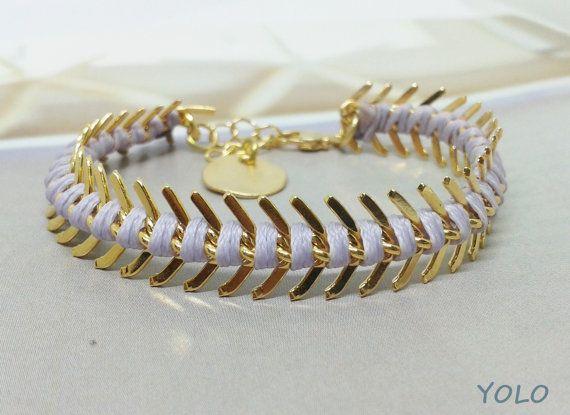 Lavender woven bracelet Light purple braided by yolojewels1