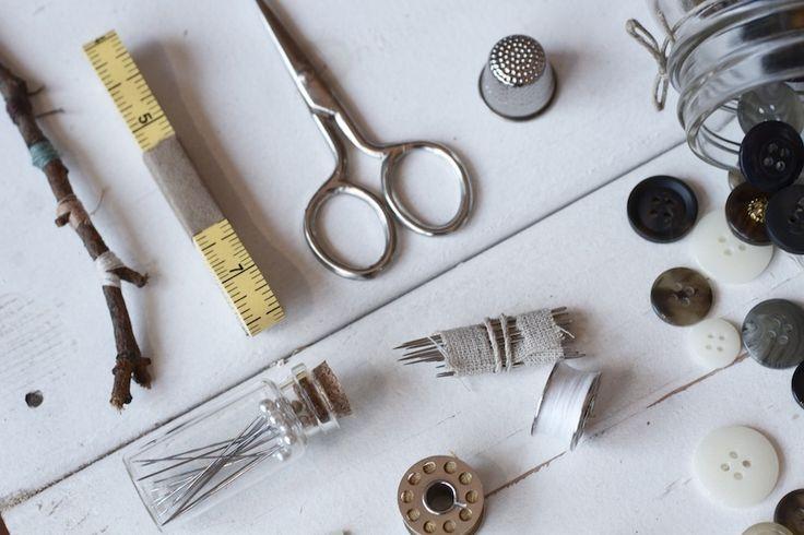 TROUT & CO. Sewing Kit #sewing #kit #masonjar #jar #gift #crafts #mending