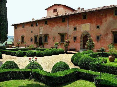 Tuscan Villa Garden