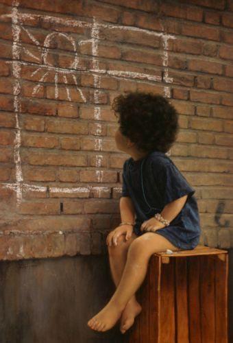 Scrieri blitz: copilărie, zid, soare