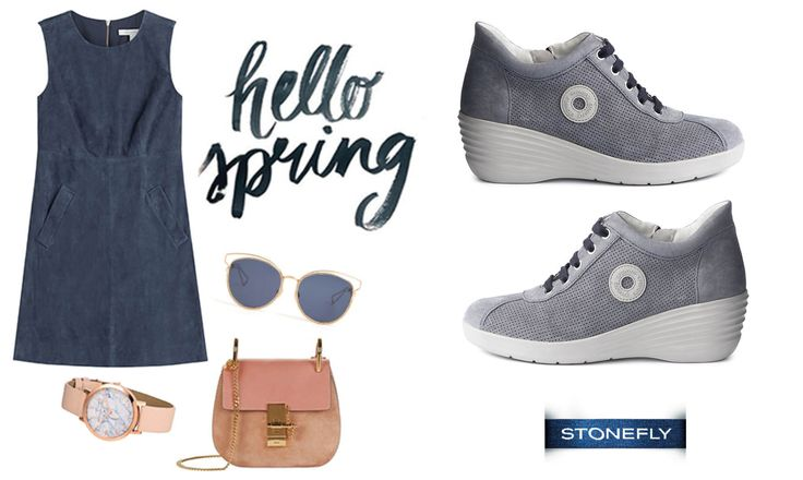 Un abbinamento elegante e primaverile per alleggerire una giornata in ufficio o un weekend in città! #spring #sneakers #Stonefly