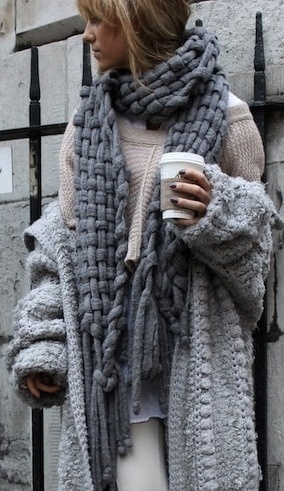 OMG so much knitted coziness!!  (I would look like a homeless person)