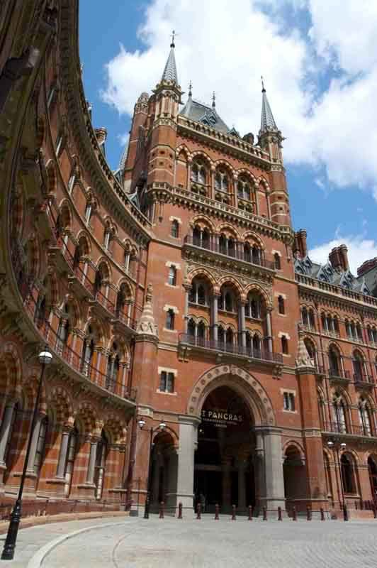 St. Pancras station, Camden, Inner City of London, London, England, Great Britain, United Kingdom.