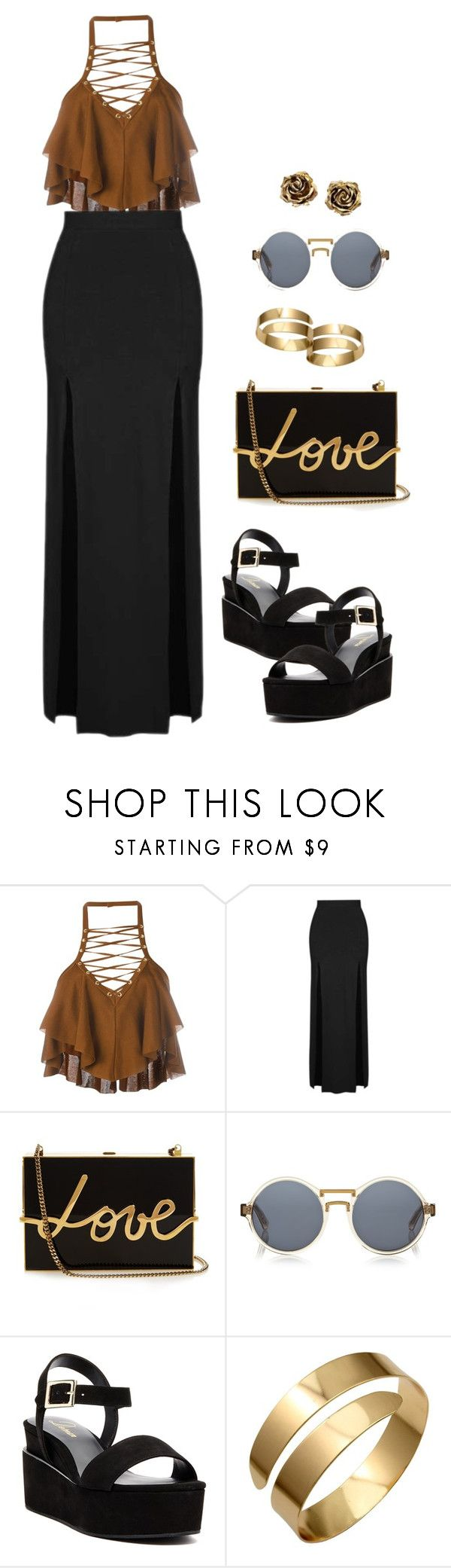 """""""💋"""" by uniquely-flawed ❤ liked on Polyvore featuring Balmain, Topshop, Lanvin, Finlay & Co., Delman, Q&Q and Tiffany & Co."""