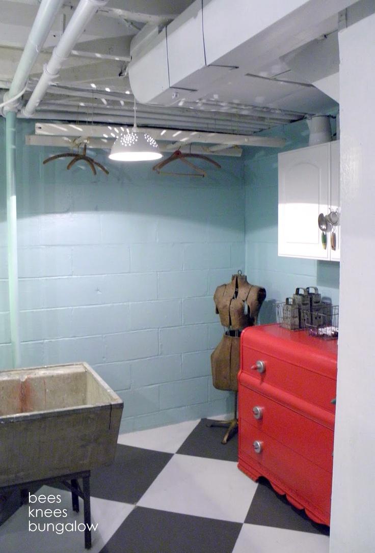 101 best images about basement stuff on pinterest - Covering interior cinder block walls ...
