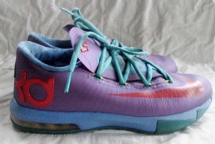 Nike KD VI 6 Rugrat GS Kids 599477-500 Durant Youth Nickelodeon 6.5Y Sneakers PURPLE AQUA ORANGE