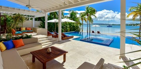 Private Island Resort | Luxury Caribbean Villa. Sea Star Villa. Absolutely love the design of thIs Villa. The bathroom is gorgeous indoor/outdoor feel. Too many beautiful pics to choose. Jumby Bay
