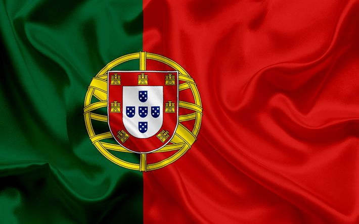 Download wallpapers Portuguese flag, Europe, Portugal, silk, flag of Portugal