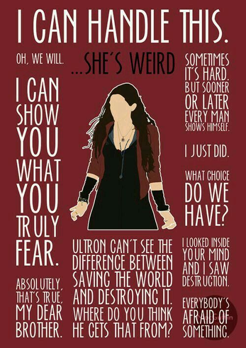 Wanda Maximoff, also known as the Scarlet Witch