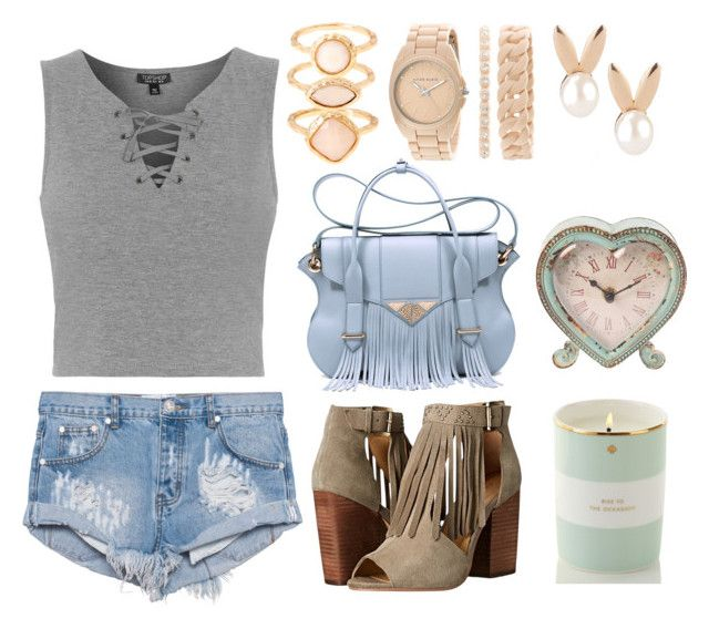 Fringe & Pastels by earringsandstuff on Polyvore featuring polyvore, fashion, style, Topshop, One Teaspoon, Chinese Laundry, Ella Rabener, Anne Klein, Monsoon, Aamaya by priyanka, Kate Spade, Sass & Belle and EarringsAndStuffStyle
