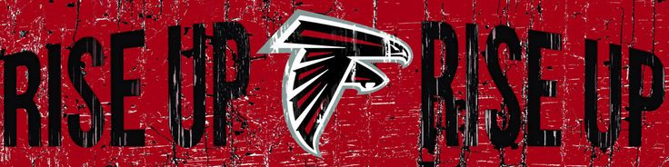 "Atlanta Falcons RISE UP NFL Slogan Wood Sign - 16""x4"" by collectorschoiceusa on Etsy https://www.etsy.com/listing/211198660/atlanta-falcons-rise-up-nfl-slogan-wood"