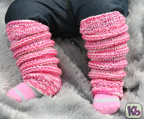 Baby Leg Warmers make these leg warmers for your infant with your sock loom 2. Make them in different colors to match outfits.