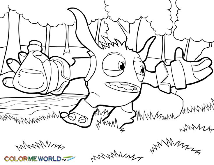 30 best Skylanders Coloring Pages images on Pinterest Coloring