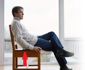 Normal Force: The normal force is the support force exerted upon an object that is in contact with another stable object. In this object, a man is sitting on a chair, the chair is exerting an upward force to support the man.