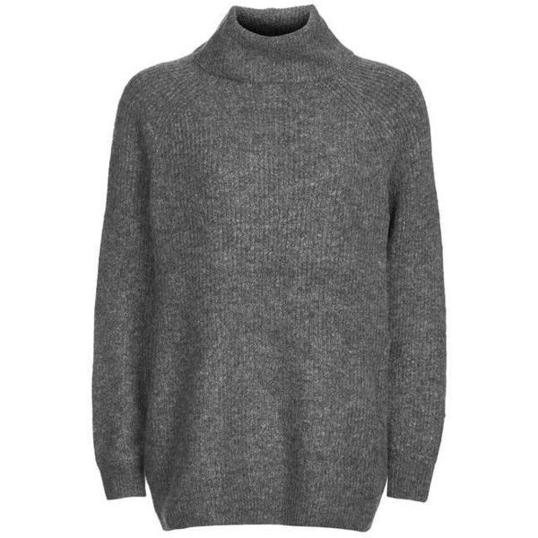 Topshop Oversized Blouson Roll Neck Jumper (435 SEK) ❤ liked on Polyvore featuring tops, sweaters, topshop, topshop tops, oversized jumper, roll neck top, jumpers sweaters and rollneck sweaters