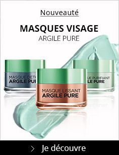 Masques argile pure - L'Oréal (9,90€ l'unité)