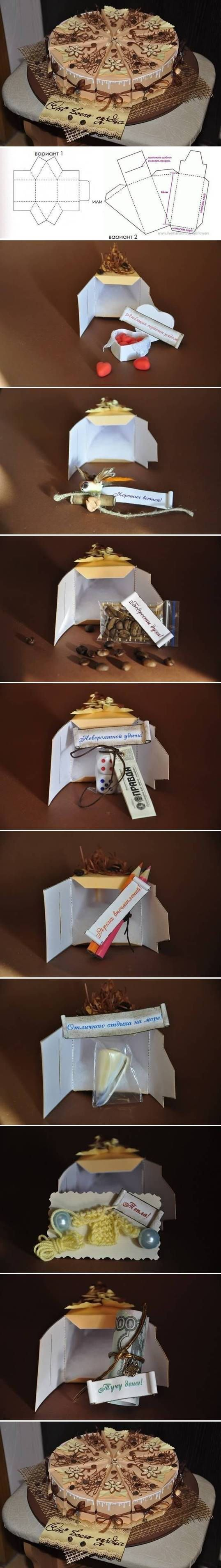 DIY Cake Gift Box Template DIY Projects | UsefulDIY.com Follow us on Facebook ==> https://www.facebook.com/UsefulDiy