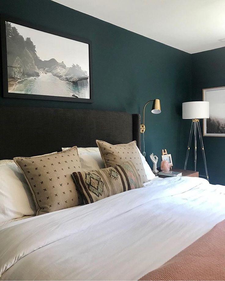 Sherwin-Williams cascades master bedroom   Green master ...