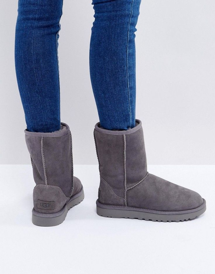 UGG Classic Short II Gray Boots - Gray