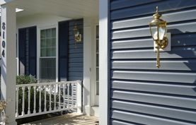 Dark Blue Grey House Exterior