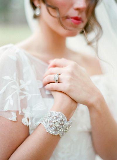 Vintage bridal jewelry: http://www.stylemepretty.com/wisconsin-weddings/2015/02/20/vintage-romance-wedding-inspiration/ | Photography: Amanda Nippoldt - http://www.amandanippoldt.com/