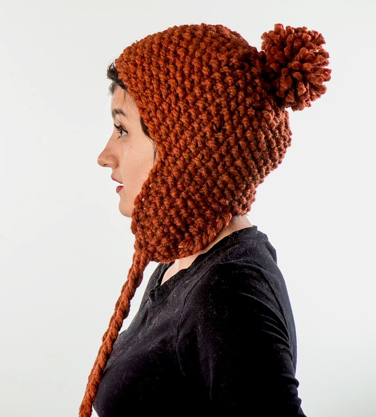 Ear Flaps & Pom Pom Knit Hat by Knit By Pearl on Scoutmob ...