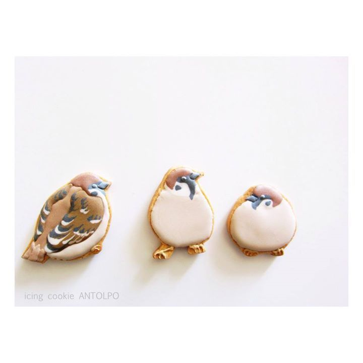 Antolpo アントルポ icing cookie すずめアイシングクッキー Sparrow icing cookies