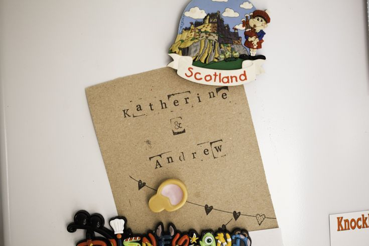 Katherine and Andrew's lovely wedding invitations
