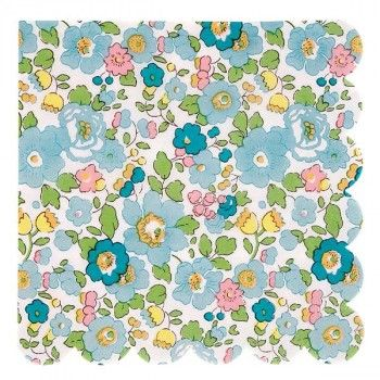 Liberty Print Green Betsy Napkins Large | Meri Meri Partyware | The Party Cupboard