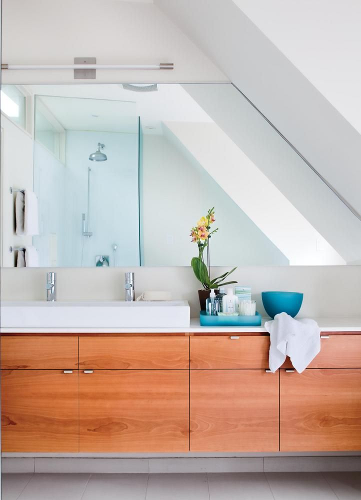 Image Gallery For Website Choose frameless mirrors When dealing with an awkward ceiling line