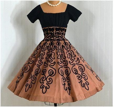 10  images about 1950s on Pinterest - Shirtwaist dress- Black silk ...