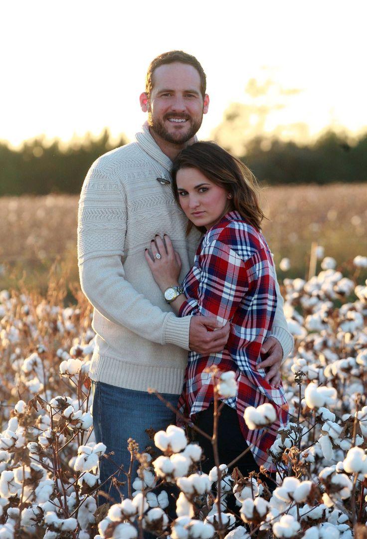 Cotton field engagement photos
