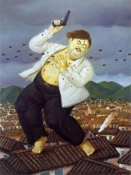 """""""Смерть Пабло Эскобара"""" Фернандо Ботеро (исп. Fernando Botero, р. 1932) – современный колумбийский художник. Биография, картины: http://contemporary-artists.ru/Fernando_Botero.html"""